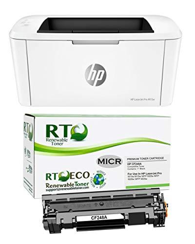 Laserjet Check Printer M15w, Bundle of HP CF248A 48A MICR Toner Cartridge