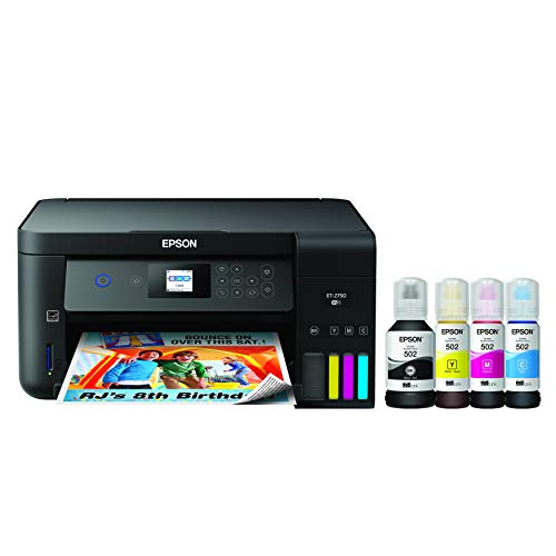Epson Wireless Eco Tank with Scanner Copier and Ethernet Regular ET 2750