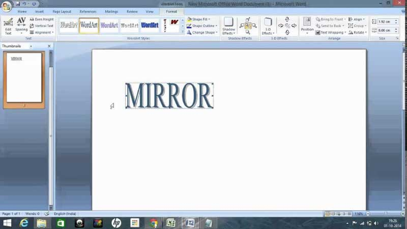 How To Print Mirror Images In MS Word