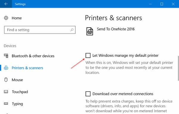 Setting A Default Printer In Windows 10