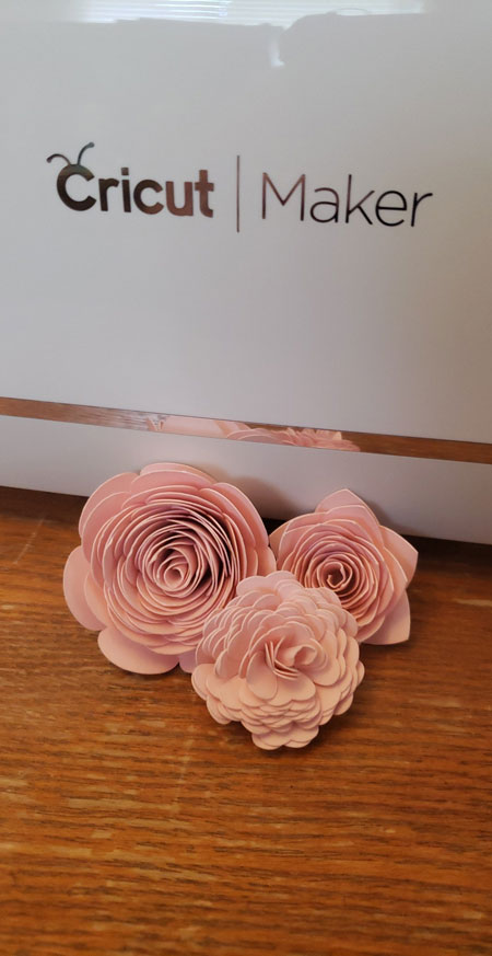 plastic flower With A Cricut Maker