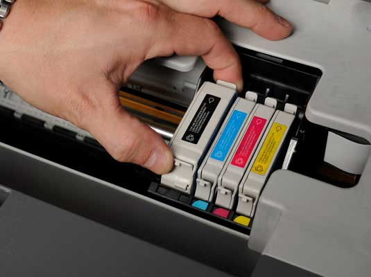 primary fixing of the hp ink cartridge