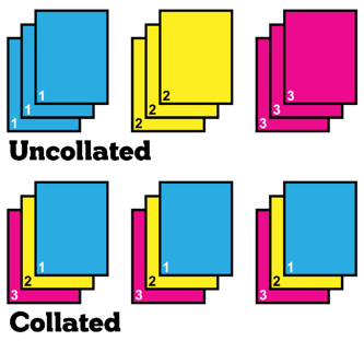Collated vs. Uncollated Printing