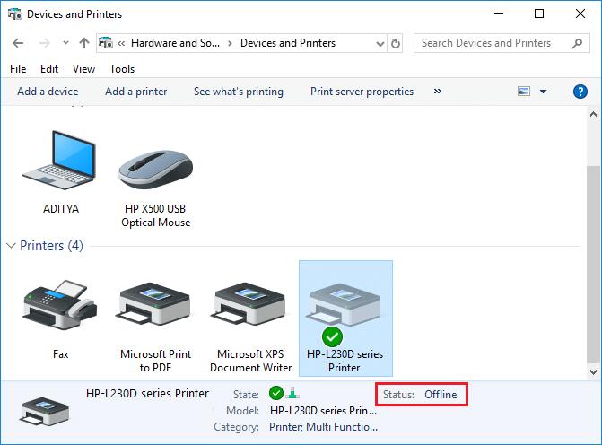 How to Fix HP Printer Offline Problems in Windows 10